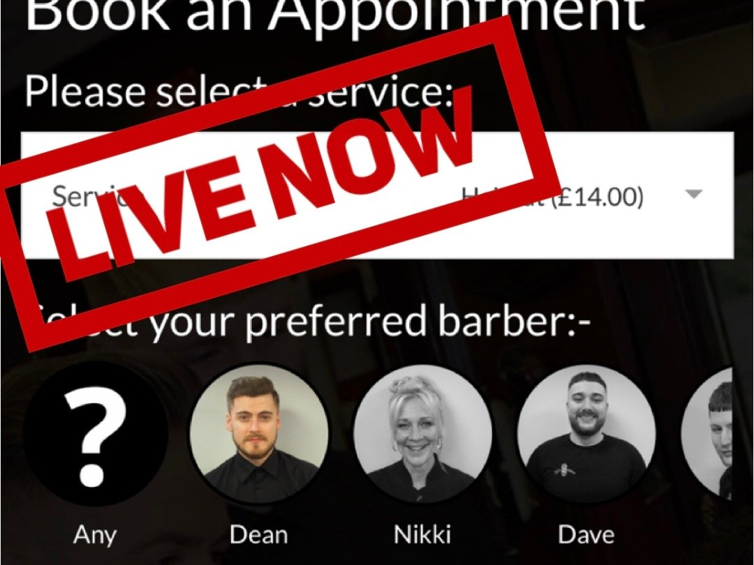 **Appointments Now Live**